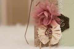 Handgjord urklippsbok Royaltyfria Bilder