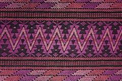 Handgjord vävd textil från Latinamerika arkivbild