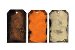 Handgjorda allhelgonaafton- eller höstgåvaetiketter som isoleras på vit Arkivfoton