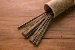 Handgjorda bambupinnar Arkivfoton