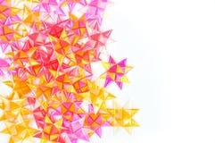Handgjorda blommor som göras från färgrika band Royaltyfri Fotografi