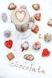 Handgjorda choklader med kaffe Royaltyfri Foto