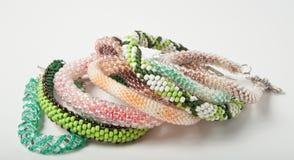 Handgjorda eleganta smycken Arkivbilder