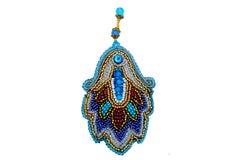 Handgjorda härliga märkes- smycken Arkivfoto