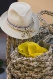 Handgjorda hattar Arkivfoto