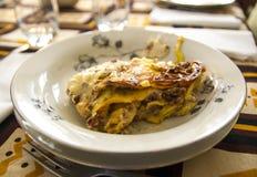 Handgjorda italienska lasagner Royaltyfri Foto