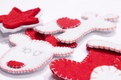 Handgjorda julleksaker Arkivfoto