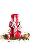 Handgjorda julljus Royaltyfri Bild