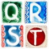 Handgjorda keramiska bokstäver Royaltyfri Foto