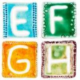 Handgjorda keramiska bokstäver Royaltyfria Bilder