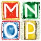 Handgjorda keramiska bokstäver Royaltyfri Fotografi