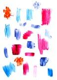 Handgjorda målarfärglinjer Arkivbilder