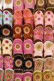 handgjorda moroccan skor Fotografering för Bildbyråer