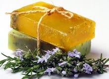 handgjorda naturliga skincaretvålar Royaltyfria Bilder