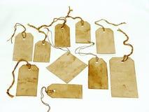 handgjorda nedfläckada etiketter Arkivbild