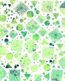 Handgjorda och digitala målningbakgrunder för vattenfärg med försiktigt Arkivbild