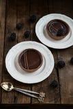 Handgjorda Rich Chocolate Tartlets Royaltyfri Foto