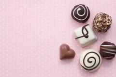 Handgjorda sötsaker för chokladgodis Arkivbilder