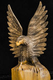 Handgjorda träEagle Royaltyfria Bilder