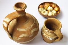Handgjorda traditionella krukor Arkivbild