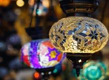 Handgjorda turkiska lampor Fotografering för Bildbyråer