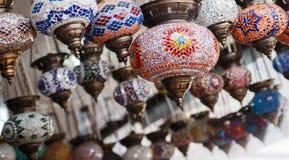 Handgjorda turkiska lampor Arkivfoton