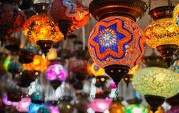 Handgjorda turkiska lampor Royaltyfri Foto