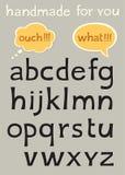 Handgjort alfabet Arkivfoto