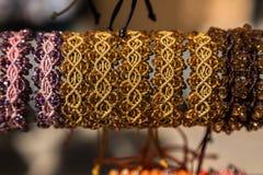 handgjort armband Royaltyfria Bilder