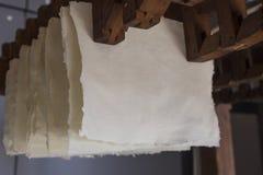 Handgjort bomullspapper Royaltyfri Bild