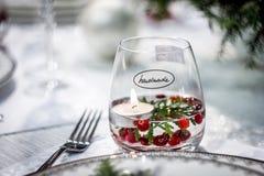 Handgjort exponeringsglas med stearinljuset arkivbilder