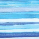 Handgjort hav för målningvattenfärgblått, pappers- textur vektor illustrationer
