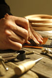 Handgjort läder Arkivbild
