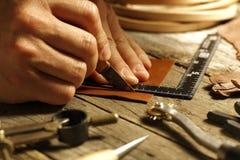 Handgjort läder Royaltyfri Bild