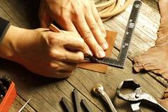 Handgjort läder Royaltyfria Bilder