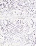 Handgjort papper med den blom- modellen Royaltyfri Bild