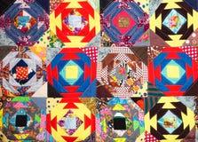 handgjort patchworktäcke Royaltyfri Foto