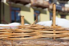 Handgjort sugrör för staket royaltyfri bild
