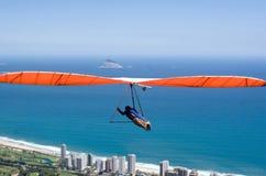Handglider au-dessus de Rio de Janeiro Photos stock