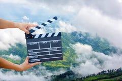 Handgreep een Filmlei met berg en hemel royalty-vrije stock fotografie