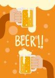 Handgreep het bier royalty-vrije illustratie