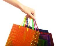 Handgriff farbige Taschen Lizenzfreies Stockfoto