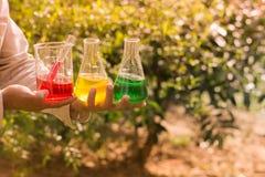 Handgriffgeräte chemisch Lizenzfreies Stockfoto