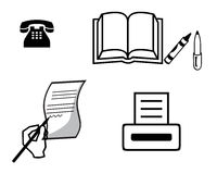 Handgrifftelefon-Druckernotizbuch Vektor Abbildung