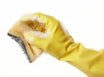 handgummi för 10 handske Arkivfoto