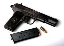 Handgun. A 7.62mm Tokarev pistol Royalty Free Stock Image