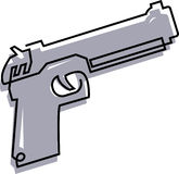 Handgun. Drawing of a handgun on a white background royalty free illustration