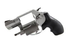 Handgun. Small handgun, gray color, isolated Royalty Free Stock Photo