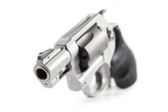 Handgun. Small handgun, gray color, isolated Stock Photos