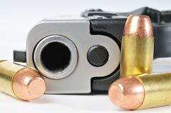 Handgun and ammunition Royalty Free Stock Photo